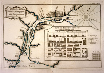 Gaspard-Joseph Chaussegros de Lery, Plan du Fort du Detroit, 1764, Courtesy of the William L. Clements Library.