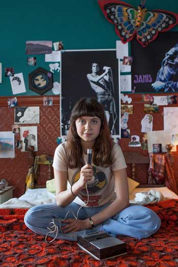 Bel Powley as Minnie in the film adaption of The Diary of a Teenage Girl. Image credit: Phoebe Gloeckner