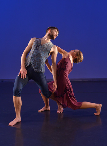 "Michael Parmelee and Maeve McEwen performing a duet from Alston's ""Brisk Singing"""