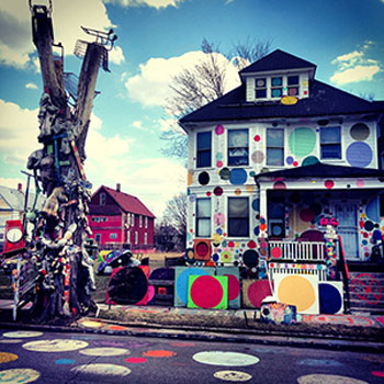The New White House, a.k.a., the Dotty Wotty House, 2010, Heidelberg Project Archives