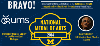 U-M's University Musical Society, George Shirley to receive National Medal of Arts